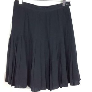 Dresses & Skirts - Escada Pure Silk Navy Blue Pleated Lined Skirt 36